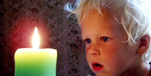 On fire in Primorye hit 7-year-old girl