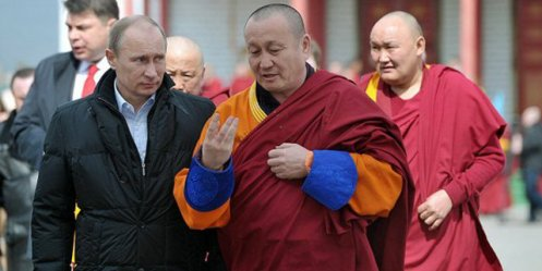 Putin has promised to support one hundred percent of Russian Buddhists
