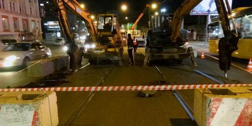 The rails will be removed from Svetlanskaya by Monday