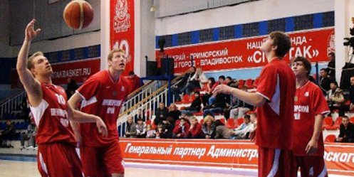 "Today ""Spartak-Primorye\"" playing with teammates from Peter"