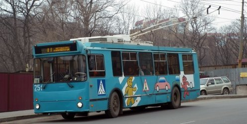 Vladivostok will be temporarily restricted movement trolleybus number 11