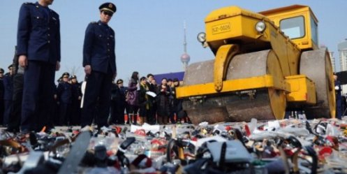 Destruction Day was held in China fakes