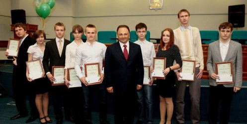 For outstanding academic achievement Igor Pushkarev awarded scholarships to 150 students
