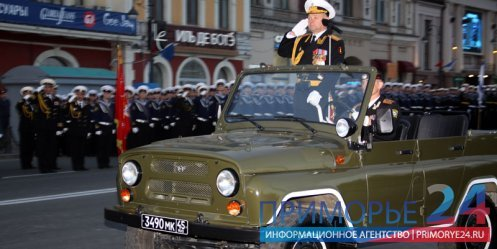 Night rehearsal of the Victory Parade was held in Vladivostok