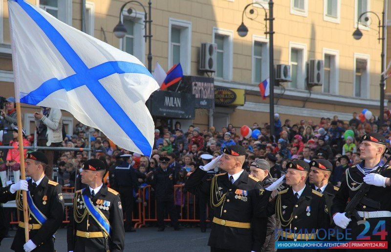 "Vladivostok was opened by the All-Russian ""baton\"" Victory Parade"