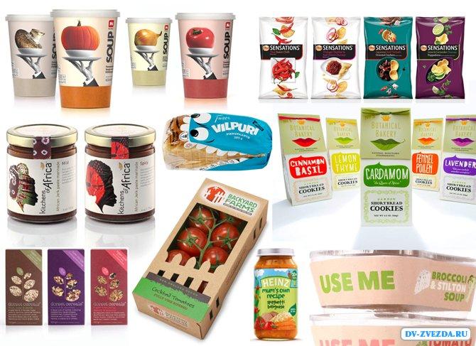 Дизайн упаковки для продуктов питания и